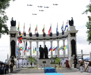 """Momento Cívico: Independencia de Guayaquil (8vo. E.G.B. """"B"""")."""